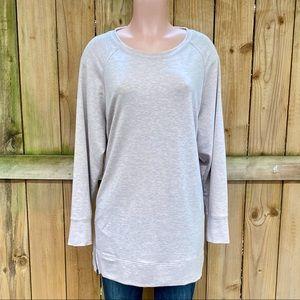Ideology Side-Zipper Sweatshirt 3X EUC